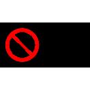 P040 - Zákaz filmovania - Vodorovná nálepka s doplnkovým textom