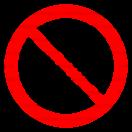 P041 - Zákaz vjazdu s bicyklom - Okrúhla nálepka bez textu