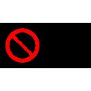 P041 - Zákaz vjazdu s bicyklom - Vodorovná nálepka s doplnkovým textom
