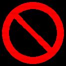 P042 - Zákaz vstupu so zmrzlinou - Okrúhla nálepka bez textu