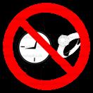 P043 - Zákaz nosenia hodiniek a šperkov - Okrúhla nálepka bez textu
