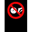 P043 - Zákaz nosenia hodiniek a šperkov - Zvislá nálepka s doplnkovým textom